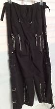 Tripp NYC Medium Pants Black Straps Chains Studs Zippers Goth Gothic Baggy