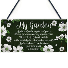 Novelty Hanging Garden Plaque Present Home Fence Shed Sign Friend Gift for Her