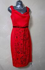 Señoras Vestido Sequinned Rojo Talla 14 Ideal Para Fiesta, Ocasión Especial