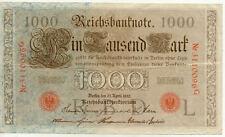 ALLEMAGNE GERMANY 1000 M reichsbanknote 1910 état voir scan 096