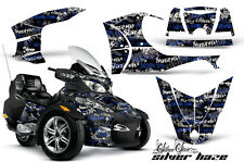 AMR RACING GRAPHICS DECAL WRAP KIT FOR BRP CANAM SPYDER RT CAN-AM, SILVERHAZE BL