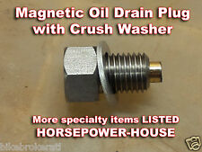 12mm 1.5 MAGNETIC OIL DRAIN PLUG BOLT & CRUSH WASHER for Chinese Honda Clones
