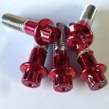 200Pcs  Custom Assembly 8mm Candy Red Bolts For 2 And 3PC Wheels nuts included