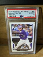 2013 Bowman DP & Prospects Rookies Nolan Arenado Rookie #41 PSA 10 GEM MINT RC