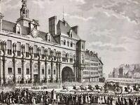 Hôtel de Ville de Paris en 1789 Arrivée du roi Louis 16 Révolution Française