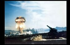 Nuclear Artillery Test PHOTO Atomic Bomb Cannon Weapon 1953 Upshot Knothole Test