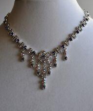 Necklace In Silver Tone Kirks Folly Purple Crystal Flower