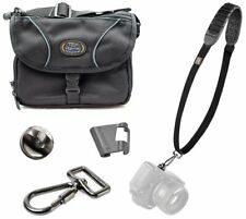 BlackRapid Shot Strap (Black) + Tamrac 4397 Micro 4/3 Mirrorless Camera Bag Kit