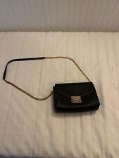 Mango MNG Black Shoulder Bag With Gold Detail Chain Strap