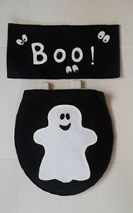 Halloween scary Ghost toilet seat & tank cover  2 pcs bathroom Handmade round
