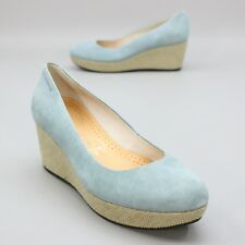 7e48337e6a98 Vagabond Ladies 42 (about 11.5 US) Blue Suede Leather Bergal Wedge Platform  Heel