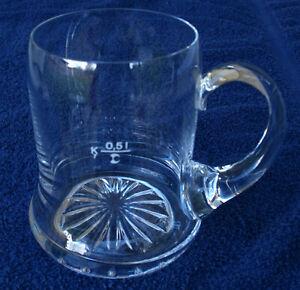 Vintage Unique Clear Glass Beer Mug