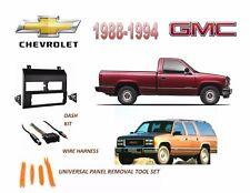 Fits 1988-1994 CHEVROLET, GMC FULL SIZE TRUCK STEREO INSTALL DASH KIT, HARNESS