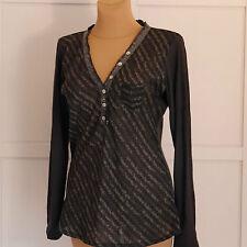 Gestreifte Damen-Blusen ohne Kragen klassische Damenblusen, - tops & -shirts