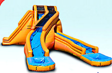 33x27x25 Commercial Inflatable Curved Water Slide n Climb Bounce House Castle