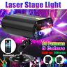 100W RGB Pro  Lights DJ Disco Strobe Lamp LED Laser Projector Sound