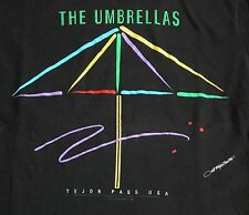 Vtg 90s Christo and Jeanne-Claude THE UMBRELLAS Tejon Pass T Shirt M DEADSTOCK
