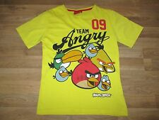 boys angry birds t-shirt age 11-12 years yellow