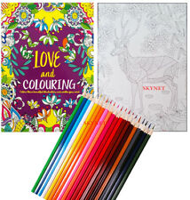 COLOUR THERAPY CREATIVE COLOURING BOOK FOR ADULTS  - A4 SIZE - 48 PAGES- NEW
