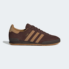 adidas Originals Cord Vintage Retro Leather Shoes in Dark Brown
