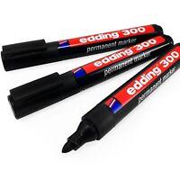 Edding 300 Permanent Marker Pen – 1.5 – 3mm Bullet Tip – Black – Pack of 3