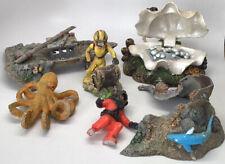 New listing Vintage Lot Of 6 Aquarium Fish Tank Decorations Octopus Shipwreck Divers Shell