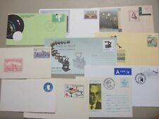 ten mint postal stationery envelopes : australia,romania,belgium ,czech.norfolk i