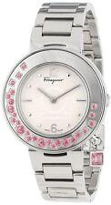 Ferragamo Women's FF5010013 Gancino Sparkling SS Pink Topaz Rotating Bezel Watch