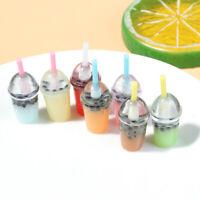 3Pcs 1:12 Dollhouse miniature milk tea cups mini toys doll house decoration HHYI