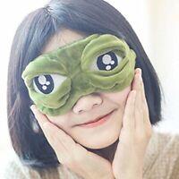 Travel Sleep Eye Mask 3D Frog Padded Shade Cover Sleeping Blindfold Rest Funny