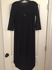 "Women's BCBG black ""Danyelle"" hi-low dress size XS"