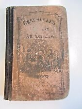 Greenleaf's Mental Arithmetic inductive (1860) antique school book MASS stamp