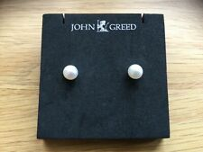 John Greed Pearl Earrings - Brand new