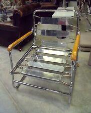 fauteuil à mécanisme transformable en chaise longue  Fr Caruelle.50's