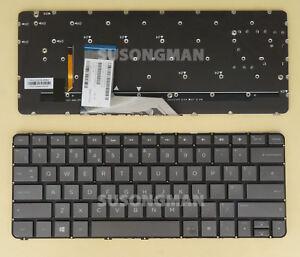 New For HP Spectre x360 13-4000 13-4100 13-4200 Keyboard Backlit gray black UK