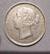 CANADA NEW BRUNSWICK  COIN 20 CENTS 1862 XF+