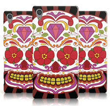 DYEFOR CENTRE SUGARSKULL LARGE RED FLOWER RAY PHONE CASE COVER FOR SONY XPERIA