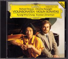 Kyung Wha CHUNG & Krystian ZIMERMAN: STRAUSS RESPIGHI Violin Sonata DG USA CD