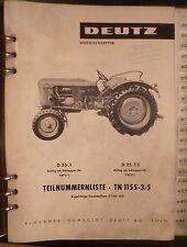 Deutz Fahr Schlepper D25.1 + D25.1 S Ersatzteilkatalog