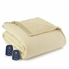 Shavel Micro Flannel Heated Soft and Warm Sherpa Electric Blanket