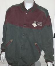 Vintage Boss Jeans Jacket 1990s Mens XL Green Maroon Red USA 1990s Brookhurst