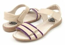 NEW Livie & Luca TAFFY Cream Beige Purple Stripe Sandals Shoes Youth 2