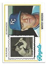 1978 Topps #299 Whitey Herzog Kansas City Royals