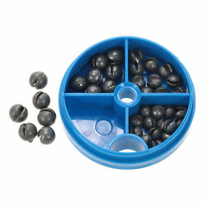 0.6/1/1.5/1.8g  split   weights fishing tackle beans  K0W2