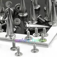 20X25mm Silver Spots Cone Screw Metal Studs Leathercraft Rivet Bullet Spikes