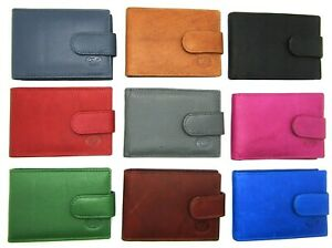 Unisex New Super Soft Credit Card ID Holder Wallet Genuine Leather Great Colours