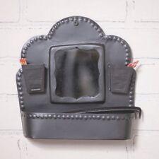Primitive new hanging COMB BOX in Smokey Black Tin