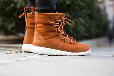 NIKE WOMEN'S ROSHE ONE HI SUEDE SHOES 12 tawny lotus sail 807426 200