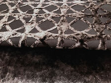 BROWN CHENILLE 2 PIECE UPHOLSTERY FABRIC 2 YDS