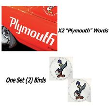 1970 Plymouth Superbird Wing Decals in White Reflective + Quarter Panel Plymouth